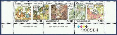 Sri Lanka 2013 MNH World Children´s Day Story Umbrella Thief Stories Child