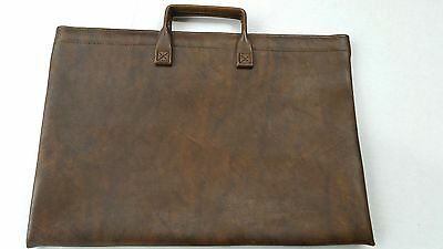 "Vintage~Hazel USA~Leather~Document Folder~Holder~Brown~12""x16"""