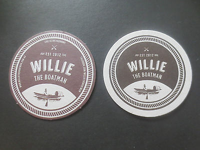 2 Different WILLIE THE BOATMAN BREWERY ,Queensland  collectable COASTERS