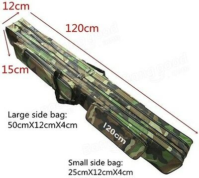 Sea Fishing Rod Bag 120 cm Camouflage Case Padded Holder Luggage Holdall Cloth