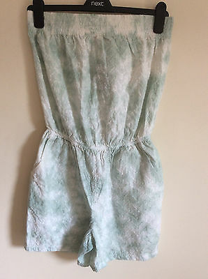 Next Women's Mint Green & White Tie Dye Playsuit, Size  6, BNWT