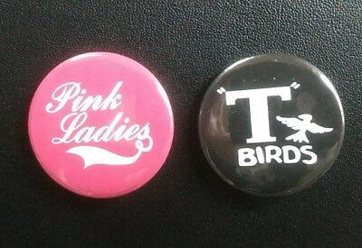 Grease Movie 25mm button badges set of 2