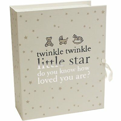 Little Star Baby Compartments Keepsake Box With Drawers - Unisex Baby Gift