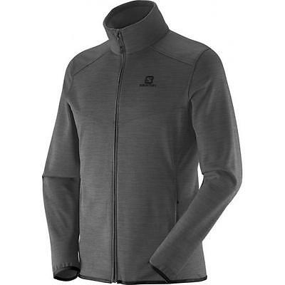 Salomon Men's Mountain FZ Midlayer -S,Charcoal
