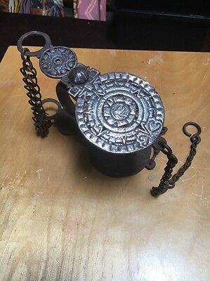 Killer Old Mexican Antique Bit With Aztec Calendar