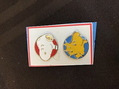 Vintage Snoopy And Woodstock Lapel Pins