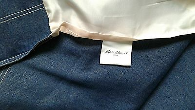 Rare EDDIE BAUER Double Bed Skirt Ruffle Denim 100% Cotton NO ISSUES! Quality!!