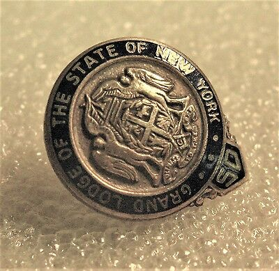 vintage Masonic Grand Lodge of the State of New York 50 Year Pin - 1/20 10K G.F.