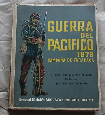 Chile 1972 Book Pacific War Signed General Augusto Pinochet Ugarte