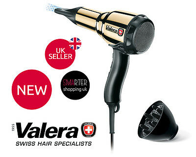 Valera Professional Swiss Metal GOLD Light Master 2000W Ionic Steel Hairdryer