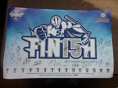 2017 SYRACUSE CRUNCH AUTOGRAPHED TEAM POSTER hockey calder cup playoffs auto