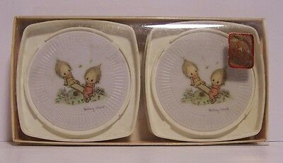 Betsey Clark Drink Coaster Set of 4 Hallmark See-Saw Original Package Plastic