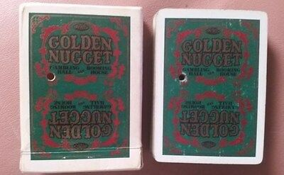 Rare Vintage Green GOLDEN NUGGET GAMBLING HALL Cards - Floor Played With Jokers