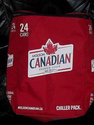 Molson CANADIAN BEER Backpack COOLER Bag CHILLER Pack 24 Cans Insulated SODA NEW