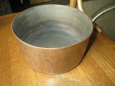 Vtg 1984 Coventry HAMMERED COPPER 3MM Sauce Pan POT Brass Handle 3.9 Pounds