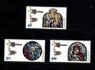 Canada No 1669, 1670, 1671 ,  Madonna & Child Set Christmas 1997, Mint Nh