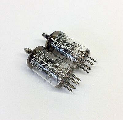 Matched pair EF95   6AK5   M8100  NOS  Mullard UK  Valve  Tubes