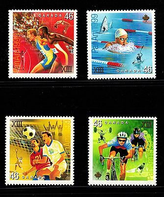 CANADA NO 1801 to 1804,   PAN AMERICAN GAMES SET OF 4 STAMPS, MINT NH