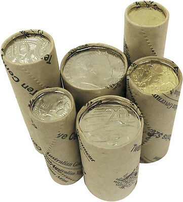 2017 Australian Standard Circulating Coin Mint Roll Set (6 Rolls)
