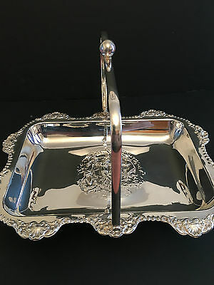 Unusual Silver Plated Nymph Basket / Fruit Bowl