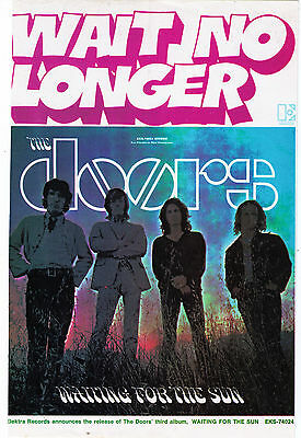 """1968 The Doors """"Waiting For The Sun"""" Record Album Trade Print Advertisement"""