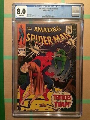 The Amazing Spider-Man #54 CGC 8.0 Off-white Pages (Nov 1967, Marvel)