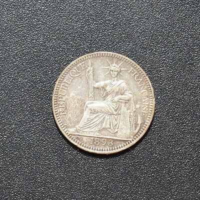1893 French Indo China 10 Cent Coin