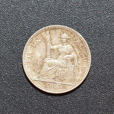 1895 French Indo China 10 Cent Coin