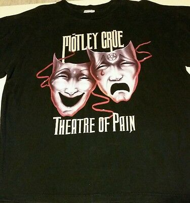 MOTLEY CRUE THEATER OF PAIN Cronies Sz XL 1985