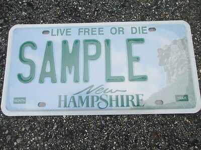 2001 New Hampshire Sample  License Plate   SAMPLE