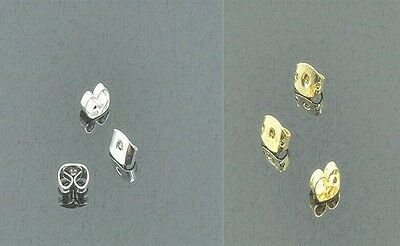 JEWELLERY FINDINGS 10 x 4mm x10mm Metal Earring Stoppers(Asst Lots Listed)