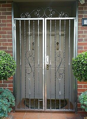 Wrought Iron Security Entrance handmade to order
