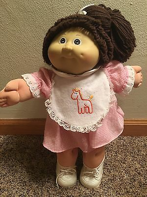 1985 Cabbage Patch Brown Haired Girl Doll Rare IC2 Factory