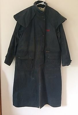 Driza-bone Long Weatherall Jacket/coat With Detachable wool vest liner Size 6 L