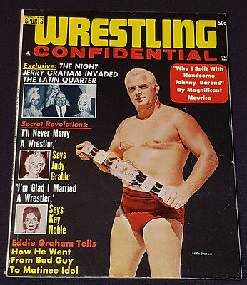 1964 (MAY) - WRESTLING CONFIDENTIAL - VOL.1 No.1 - MAGAZINE - EDDIE GRAHAM cover
