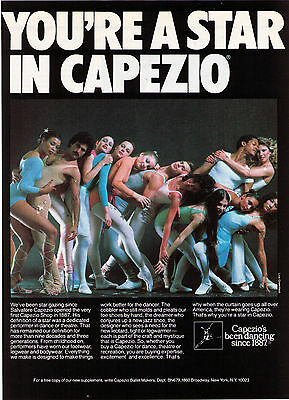 "1980 ""You're A Star In Capezio"" Lois Greenfield Photo Ensemble Advertisement"