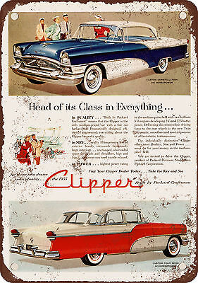"7"" x 10"" Metal Sign - 1955 Packard Clipper - Vintage Look Reproduction"
