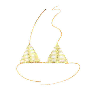 Crystal Beach Body Chain Bra Wear Harness Tassel Necklace Bikini Dress Jewelry