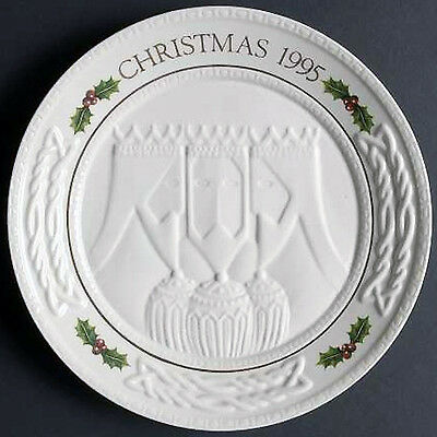 CHRISTMAS PLATE by Belleek 9.25 NEW NEVER USED Ireland 1995 THE THREE WISE MEN