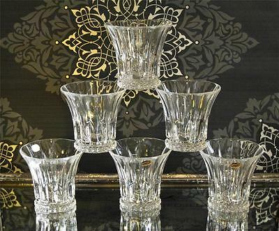 """Set of 6 """"Tennessee"""" Contemporary Bohemia Crystal tumblers, NEW"""