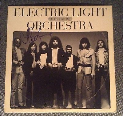 Electric Light Orchestra Autographed On The Third Day Album/jeff Lynne