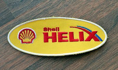 SHELL HELIX Patch Motor Oil Racing Formula Sponsor Sew On NEW Embroidered NOS