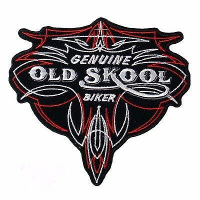 Genuine Old Skool Biker Patch Sew/Iron Men's Shed Rider biker Motorcycle