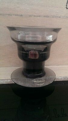 Frank Thrower Wedgwood Glass Caligula Candle Holder in Midnight Grey beautiful
