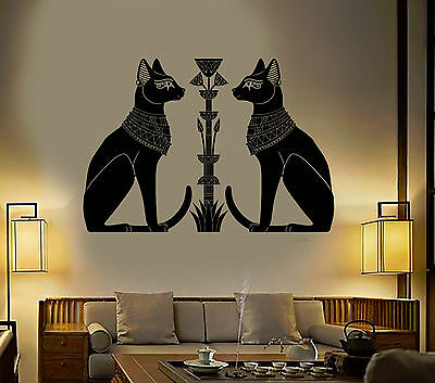 Vinyl Wall Decal Egyptian Cats Bastet Ancient Egypt God Art Stickers (ig4894)