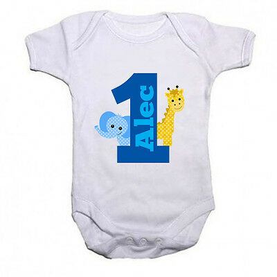 1st Birthday Vest Cute animals Personalised!!