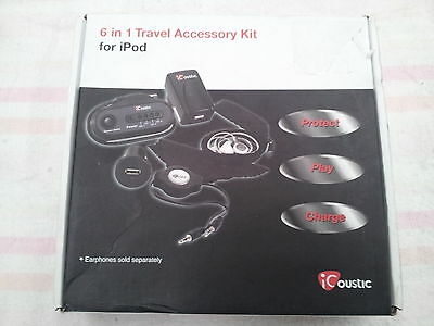 iCoustic 6 in 1 Travel Accessory Kit For iPod
