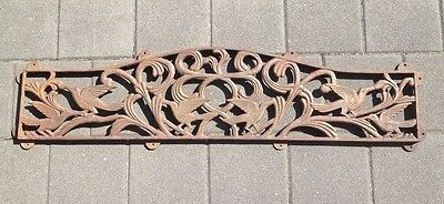 Cast iron art nouveau styled panel  Can easily be used inside or outside