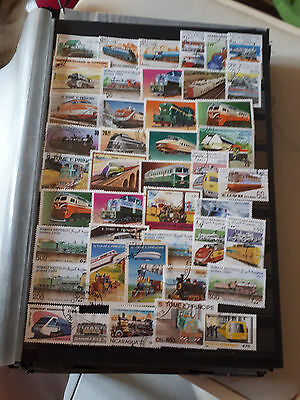 43 timbres Trains (lot 3)