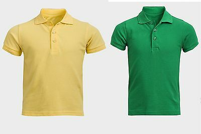 Children Polo Shirt, Boys Polo shirt, Girls Polo T-shirt, Green T-shirt, yellow